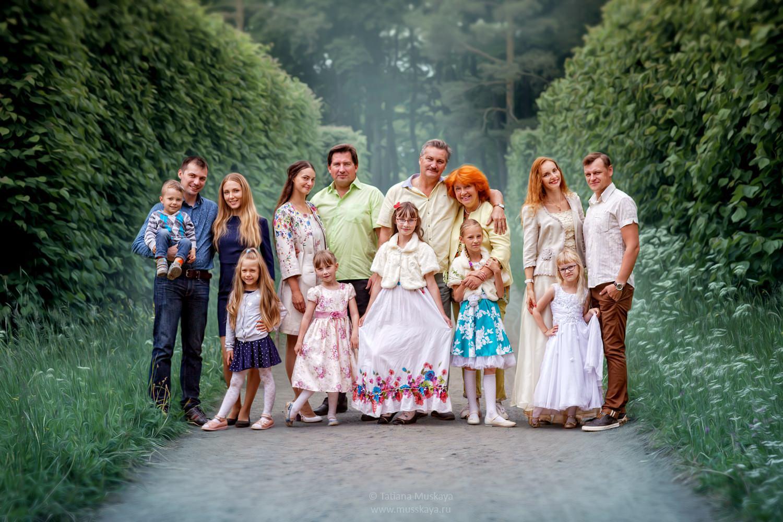 фотосессия большой семьи