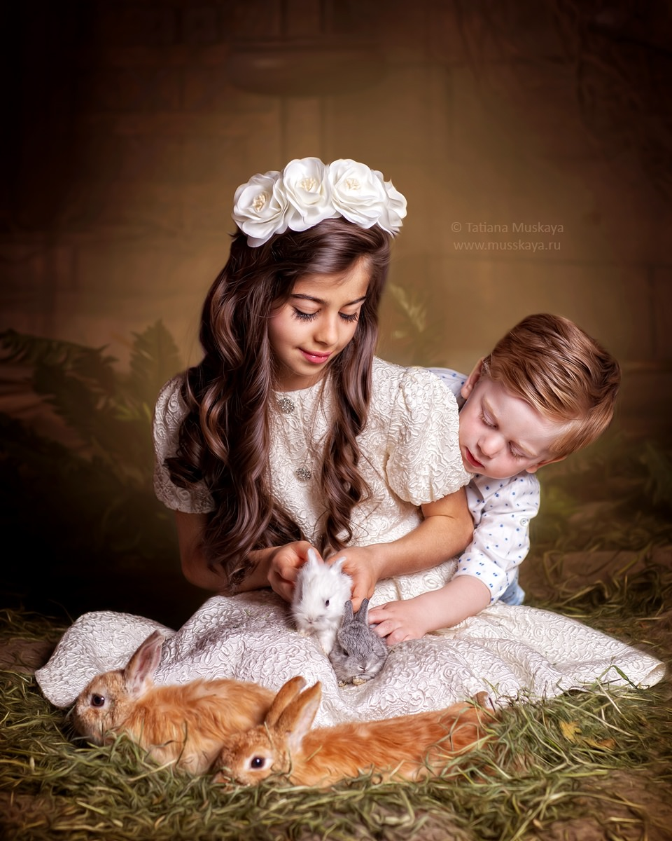 фотосессия с кроликами