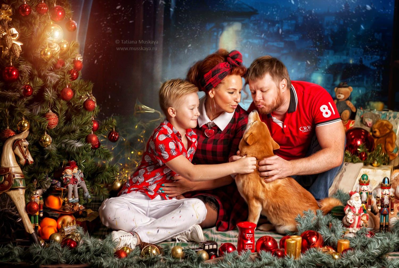 подарок рождественские картинки семьи номер