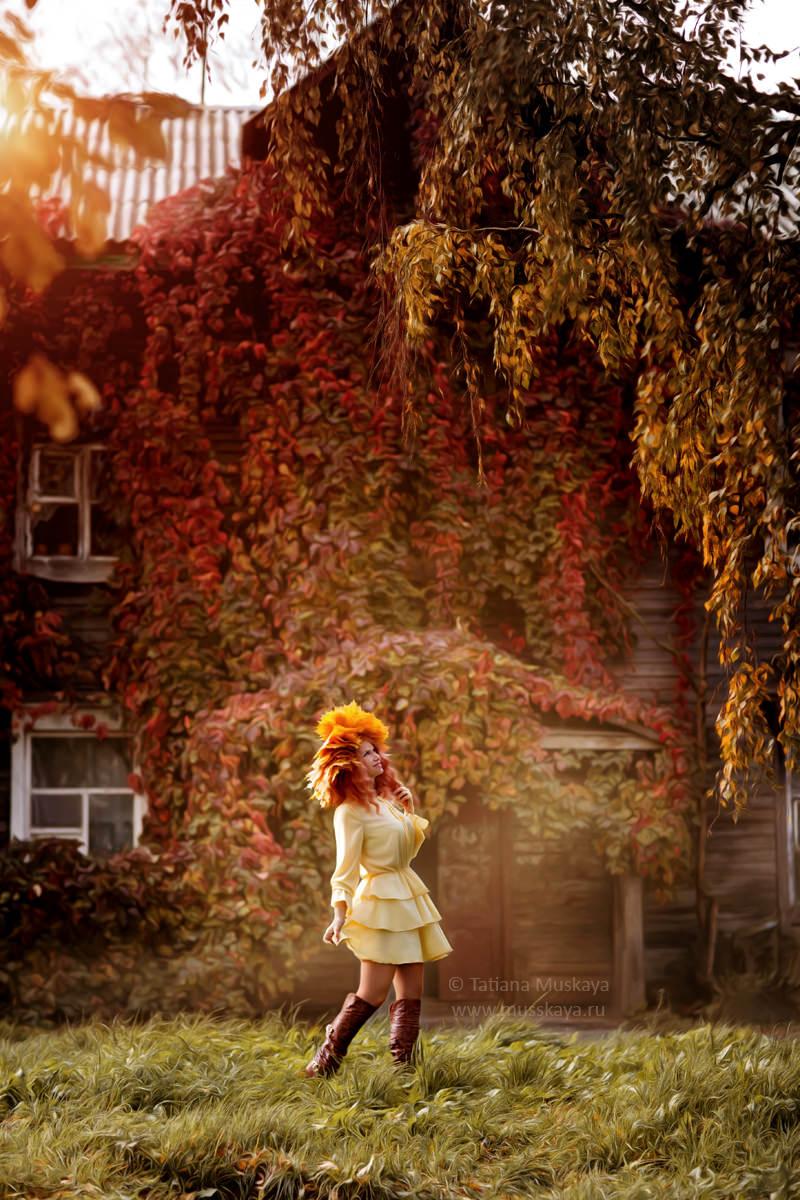 Осенняя фотосессия девушки