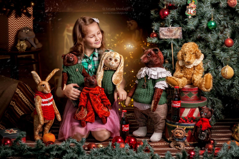 Новогодняя фотосессия в Москве с мишками тедди